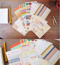 12 piezas Juego de Pegatinas de viaje diario Deco Surtido de papel diario Scrapbooking P093