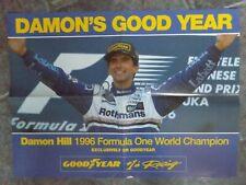 "22"" x 16"" POSTER - F1 - DAMON HILL - 1996 WORLD CHAMPION - WILLIAMS GOODYEAR"