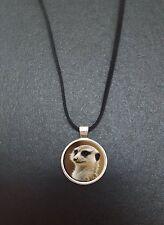 """Meerkat CIONDOLO su un 18 """"NERO CORD Collana Ideale Regalo di Compleanno N52"""