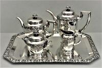 Antiker Kaffeekern Teekern Tablett Bruckmann Monogramm TK 800er Silber  (P109)