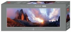 Heye Puzzles - Panorama , 1000 piece Jigsaw puzzle - 3 Peaks 	 HY29737
