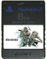 METAL GEAR SOLID PS2 PS1 MEMORY CARD SAVES Cheats Sons Liberty 2 Snake Eater 3VR