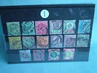 Collection 16 antique King Edward VII postage stamps postal ephemera 1902-1910