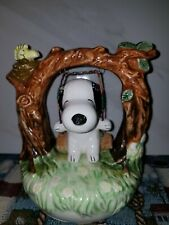 VINTAGE PEANUTS SNOOPY CERAMIC TREE SWING