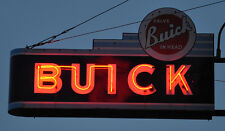 Buick 1950s Photo of Hanging Sign Lit Up 13 x 19 Photograph