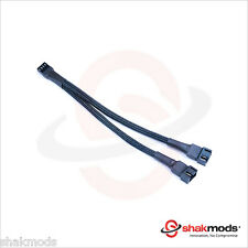 Shakmods 20 cm 4 pin PMW Fan Y Splitter Black Sleeved Extension Cable