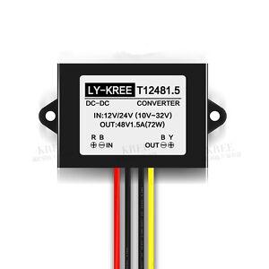 NEW Voltage Booster Power DC Converter Regulator 12V/24V Step up to 48V 1.5A 72W