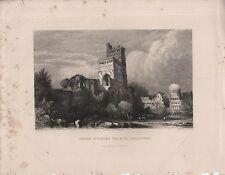 """India/Antiguo Impresiones - """"siete pisos Palace, bejapore"""" - Prout & Elliot (1840)"""