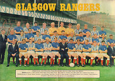 POSTER GLASGOW RANGERS 1969 (COMES FROM DUTCH COMIC MAGAZINE PEP)