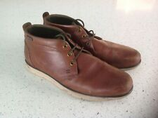 Mens BARBOUR Brown Leather Lace Up Boots, Size 8