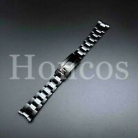20MM Submariner Watch Band Bracelet Polish Brust Black Fits For Rolex Oyster