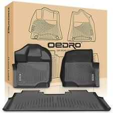 oEdRo Fit for 2015-2018 F150 Floor Mats Liners Crew Cab  All-Weather Guard
