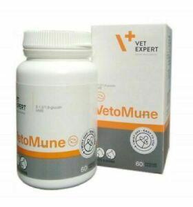 Vetexpert VetoMune Food Supplement for Dogs & Cats Immune System Enhancer 60tabs