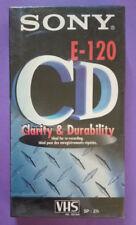 VHS SONY E-120 CD VERGINE videotape videocassetta nuova SIGILLATA no dvd (VH)