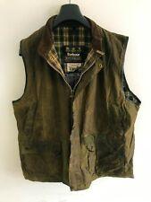 Barbour Vintage Wax Westmorland Vest Mens XL/2XL Dark Green Gilet Body Warmer