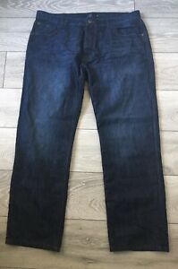 Mens Dark Wash Loose Fit Jeans from Next size 40R