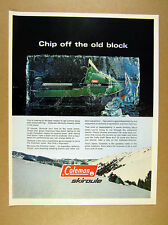 1970 Coleman Skiroule Snowmobile 'Chip off the old block' photo vintage print Ad