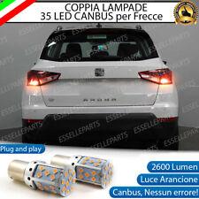 COPPIA LAMPADE PY21W BAU15S CANBUS 35 LED SEAT ARONA FRECCE POSTERIORI NO AVARIA
