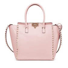 Valentino Rockstud Double Handle Bag- Water Rose