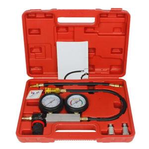 UK Petrol Engine Cylinder Leak Down Tester Compression Leakage Detector Kit Set