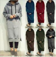 Fashion Casual Loose Women's Hoodies Maxi Sweatshirt Plus Long Sleeve Dress