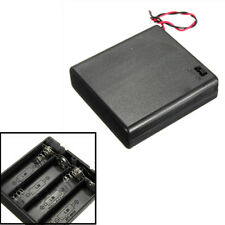 AA 6V 4Piles Bloc Boîte Batterie Coupleur Connecteur Support Interrupteur ON/OFF
