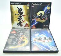 PS2 Onimusha 1 2 3 Shin Onimusha: Dawn of Dreams Lot of 4 Set Japan Ver. Capcom