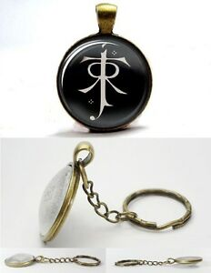 The Lord of the Rings - Elf Symbol - Bronze Tone Photo Glass Dome Key Ring