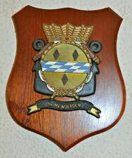 Hr Ms Woerden plaque shield crest Dutch Navy gedenkplaat HNLMS