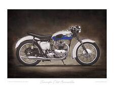 Motorcycle LE Print Triumph Bonneville T140 Classic British Bike Art Steve Dunn