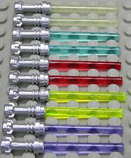 LEGO - 10 Laserschwerter silberner Griff / 5 Farben NEU