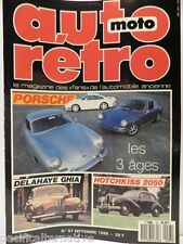 Revue AUTO RETRO moto magazine n° 97  - septembre 1988 collection hotchkiss 2050