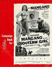 SILVANA MANGANO • OUTLAW GIRL aka FUGITIVE • 1955 • 6 pg • Uncut • Complete