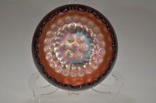 ca. 1911 COIN DOT by Fenton AMETHYST Carnival Iridescent Rosebowl