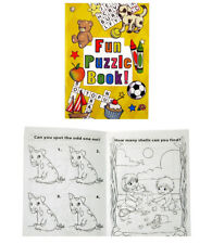 Pack of 12 - Fun Puzzle Colouring Books -  Pinata Toy Party Bag Stocking Fillers