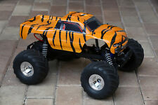 Custom Body Tiger Style for Traxxas Bigfoot / Stampede 1/10 Truck 3660 3619 3658