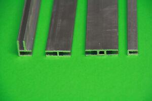 Aluminium Profile Pressblank in 1 Meter Länge für PLEXIGLAS® , DIBOND® Platten
