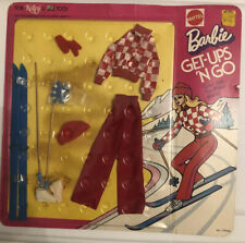 Vintage Barbie Get Up 'N Go Cool Flair For Classy Skiing No 7787 Old Stock