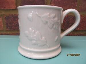 Vintage Laura Ashley 1995 Oakleaf Embossed White Ceramic Mug VGC Rare Retired