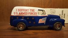 1990 The Ertl Co. U.S. Armed Forces 1950 Chevy Panel 1:25 Die-cast Coin Bank