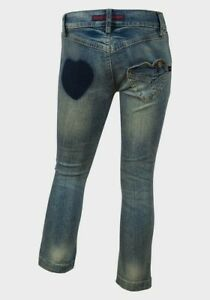 Girls Heart Pocket style Jeans Fits age 13-14years