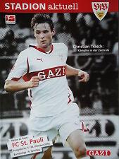 Programm 2010/11 VfB Stuttgart - St. Pauli