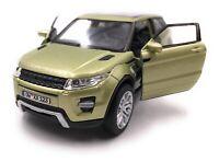 Range Rover Modellauto mit Wunschkennzeichen Evoque SUV Grün Maßstab 1:34-39