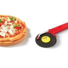 TOP Spin Pizza Cutter Schneider Pizzaroller Plattenspieler Geschenkidee Schwarz