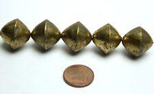 5 Stück Tuareg gold Perle handmade Mali 17 mm AFRIKA SCHMUCK