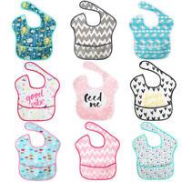 Newborn Infants Baby Kid Waterproof Stain Resistant Bib With Pocket Saliva Towel