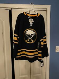 Buffalo Sabres adidas Navy Home Authentic Blank Jersey