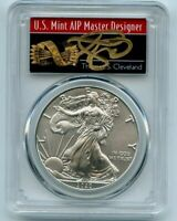 2020 American Silver Eagle PCGS MS70 FS 1 of 1000 Thomas Cleveland Arrows Label