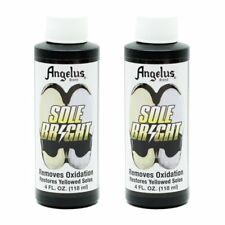 TWO PACK Angelus Sole Bright 4 oz Bottle Removes yellowing Cleans Yellow Soles