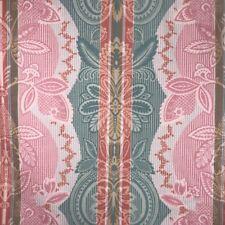 VTG Jay Yang Fabric Upholstery Drapery 3Yd Island Beach Pastel Summer Pink Green
